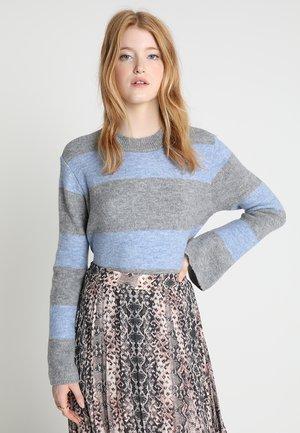 Jersey de punto - light grey/light blue