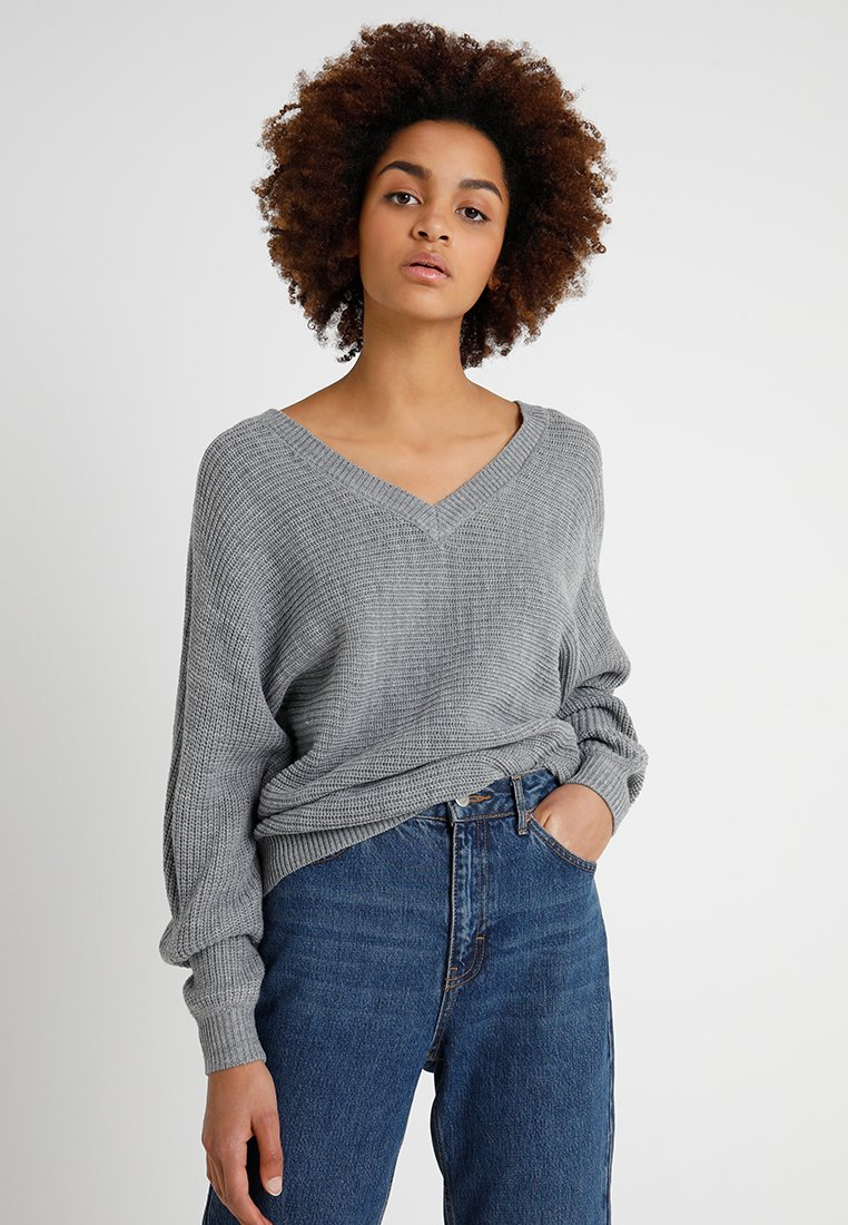 TWINTIP - Strickpullover - mottled grey