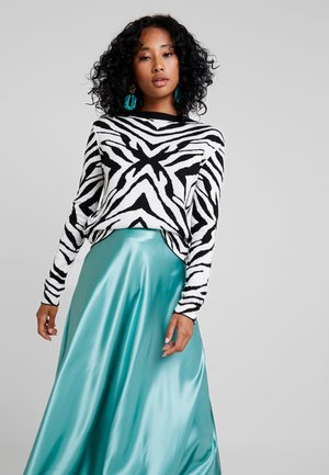 ZEBRA CREW NECK  - Sweter - white black