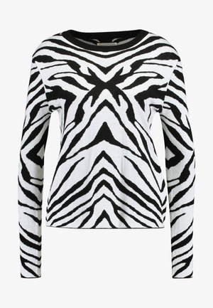 ZEBRA CREW NECK  - Strikkegenser - white black