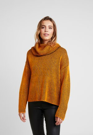 Sweter - orange/black
