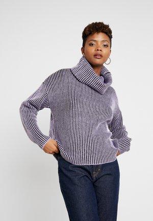 Jersey de punto - lilac/black