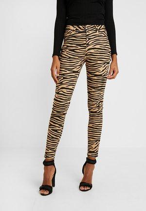 Jeans Skinny Fit - camel/black