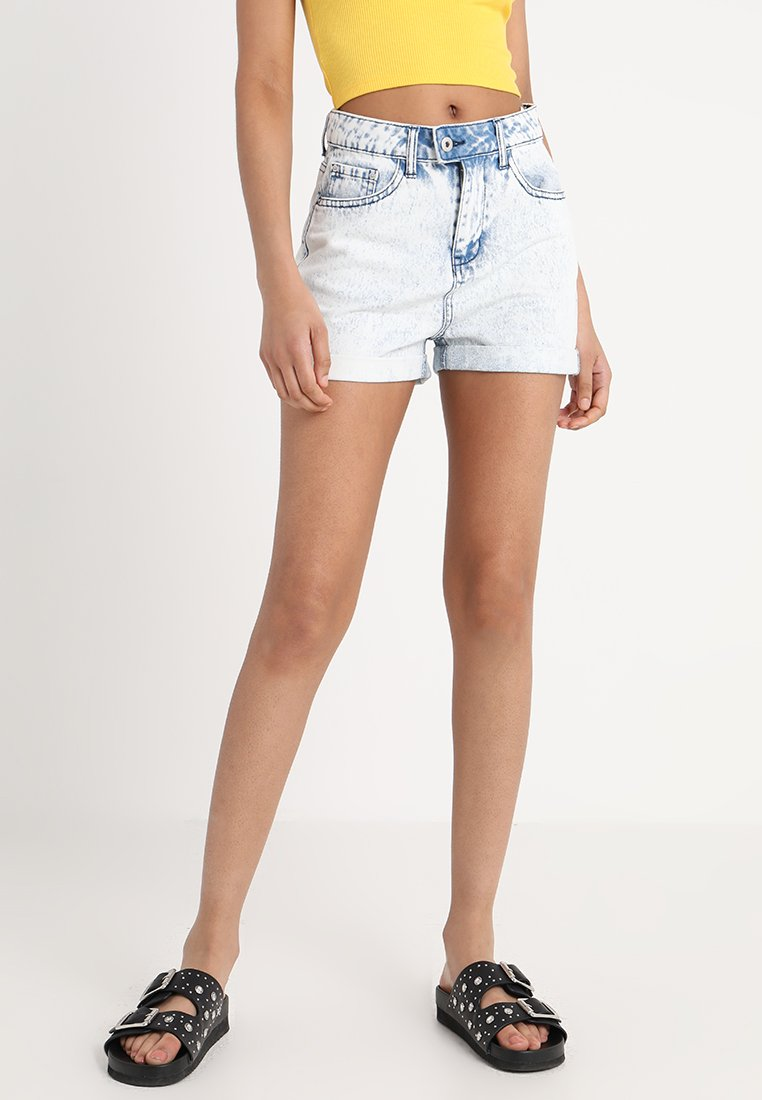 TWINTIP - Jeans Short / cowboy shorts - blue acid wash