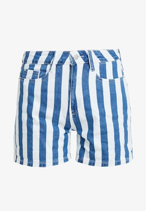 Jeansshorts - blue white