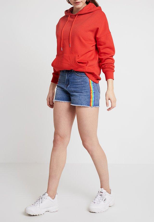 Denim shorts - mid blue denim