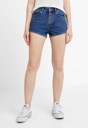 Shorts vaqueros - dark-blue denim