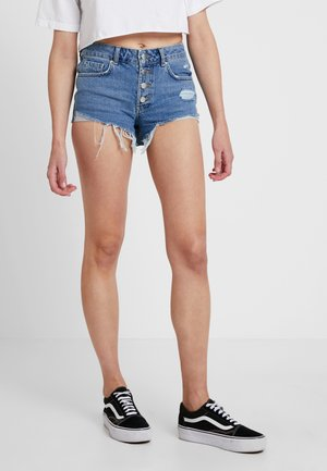 Shorts di jeans - dark-blue denim
