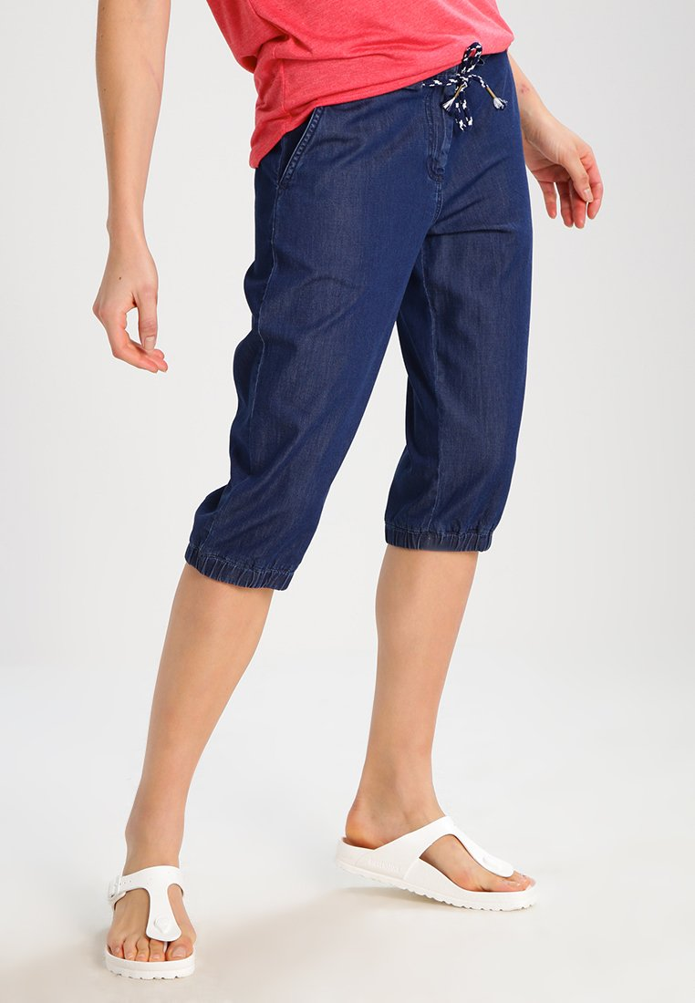 TWINTIP - Shorts vaqueros - dark blue denim