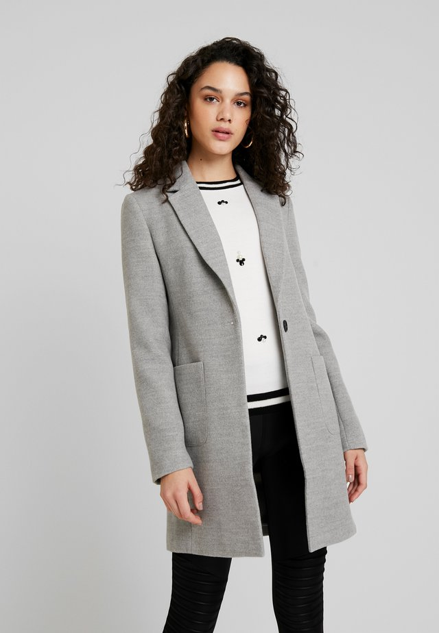 Płaszcz wełniany /Płaszcz klasyczny - grey melange