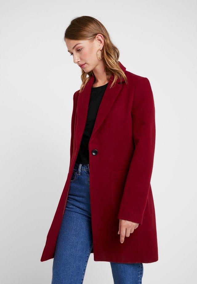 Płaszcz wełniany /Płaszcz klasyczny - bordeaux