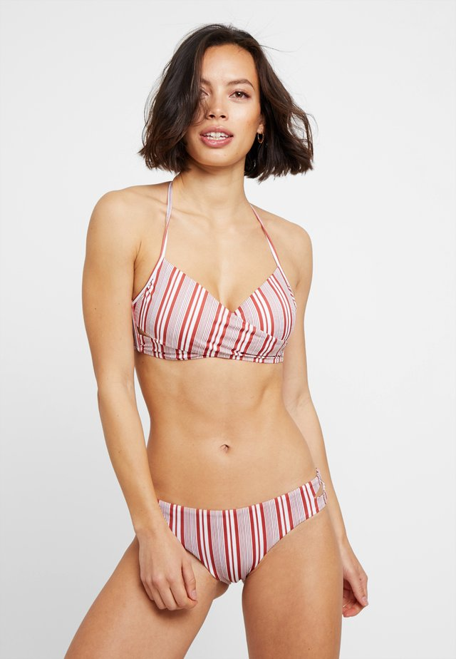 SET - Bikiny - white/brown