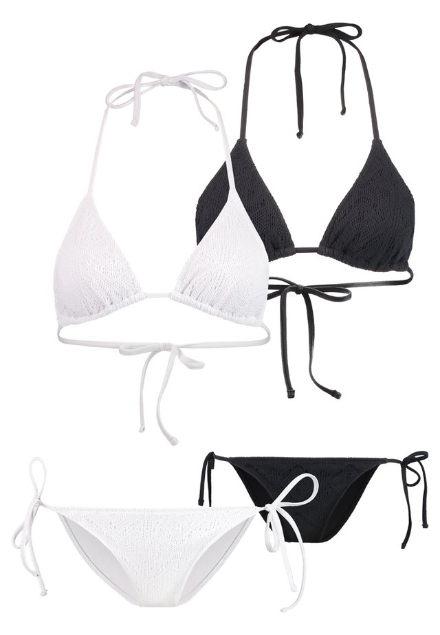 SET 2 PACK  - Bikinier - white/black