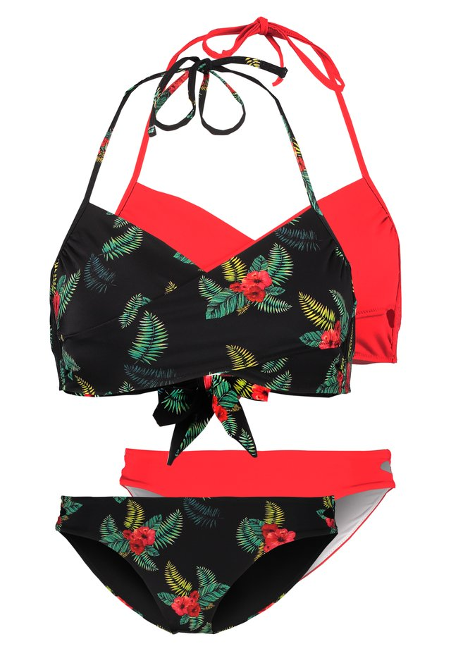 2 PACK SET - Bikiny -  black/red