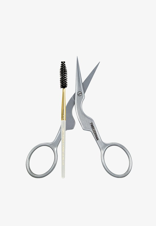 PRECISE EYEBROW SCISSORS WITH BRUSH - Haarentfernungs-Zubehör - neutral