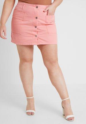 Denimová sukně - salmon