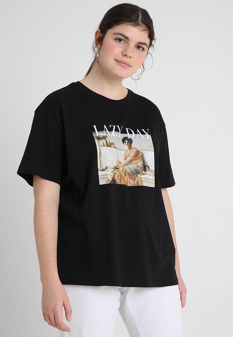 Twintip Plus - Print T-shirt - black