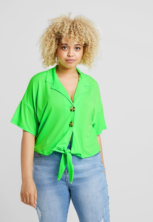Blouse - neon green