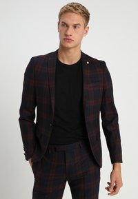 Twisted Tailor - GINGER TARTAN SUIT - Completo - wine - 2