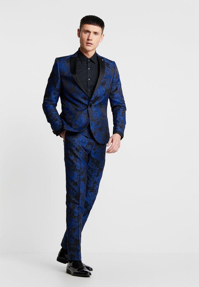ERSAT SUIT SLIM FIT - Oblek - blue