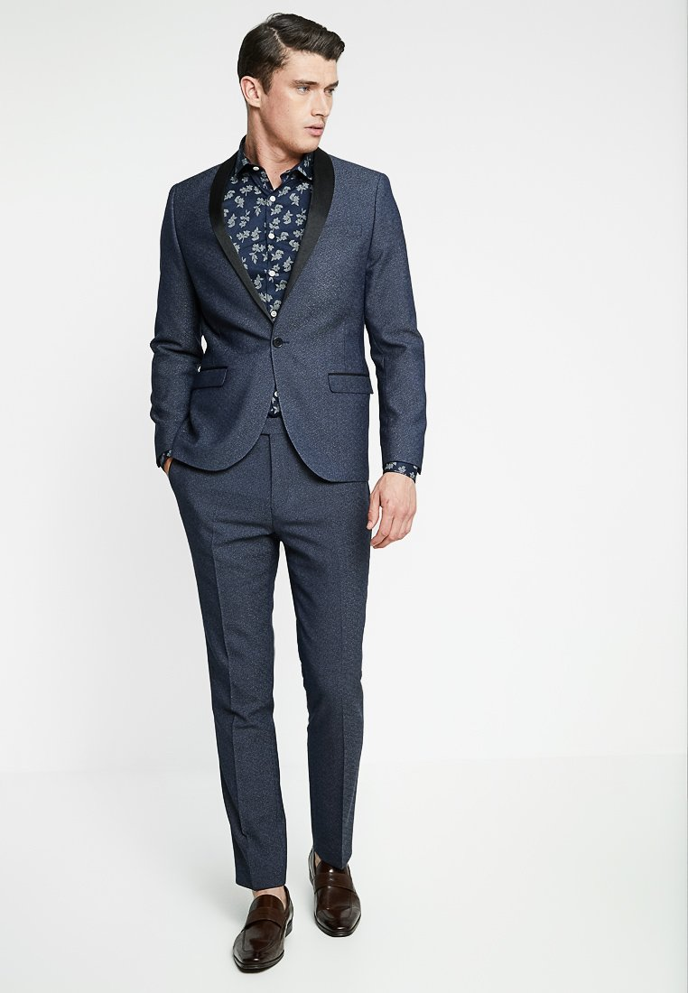 Twisted Tailor - ROOSICK SUIT SKINNY FIT - Oblek - navy