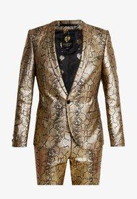 Twisted Tailor - BRAGA SUIT SKINNY FIT - Oblek - gold - 7