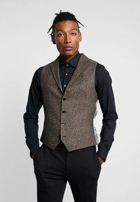 Twisted Tailor - SNOWDON WAISTCOAT - Weste - brown - 0