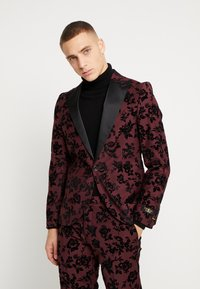 Twisted Tailor - KADI FLORAL FLOCK SUIT - Suit - burgundy - 2