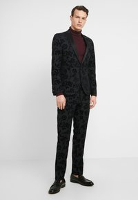 Twisted Tailor - KATRIN SUIT FLORAL FLOCK - Kostuum - charcoal - 0