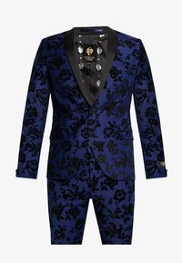 Twisted Tailor - FRAN FLORAL FLOCK SUIT - Oblek - bright blue - 9