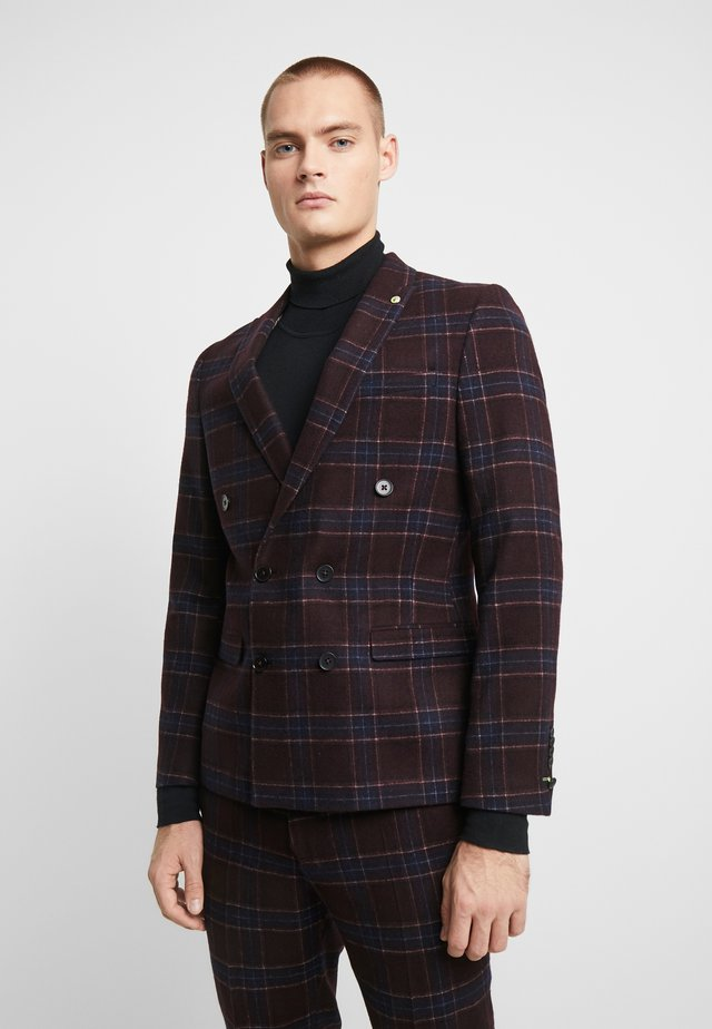 LYDON SUIT SLIM FIT - Completo - burgundy