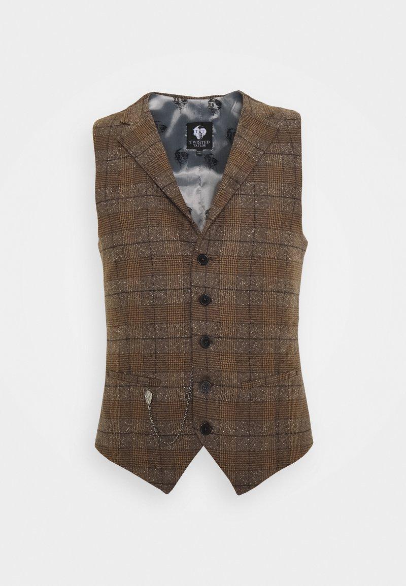 Twisted Tailor - PETTIS WAISTCOAT - Waistcoat - brown