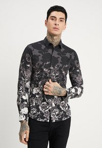 Twisted Tailor - ONO FLORAL SLIM FIT - Skjorta - black - 0