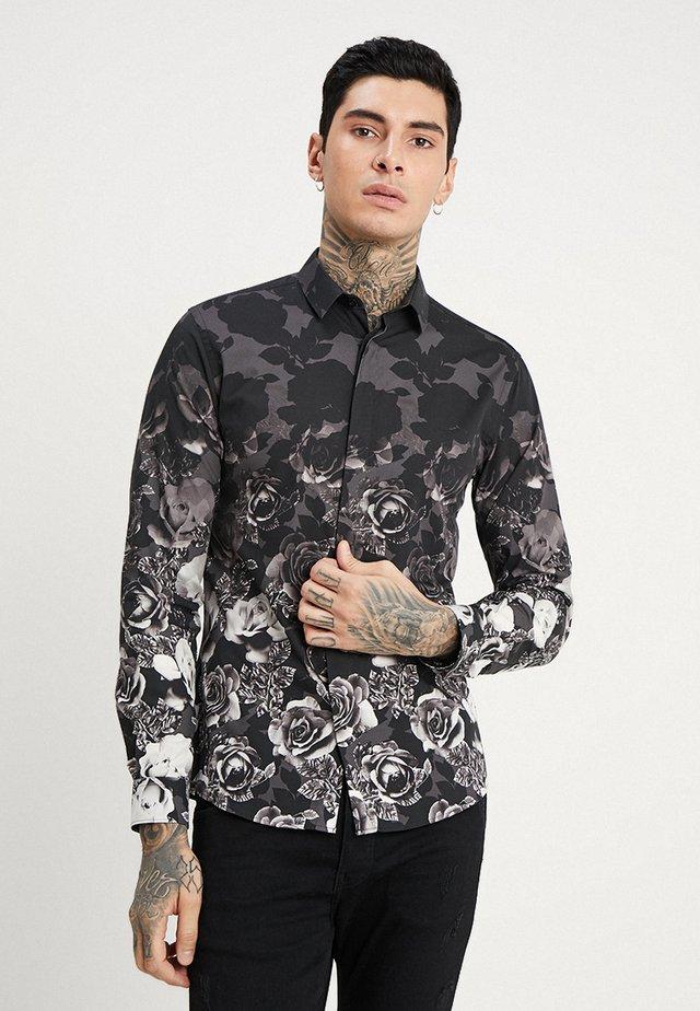 ONO FLORAL SLIM FIT - Košile - black
