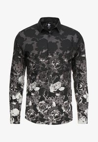 Twisted Tailor - ONO FLORAL SLIM FIT - Skjorta - black - 4