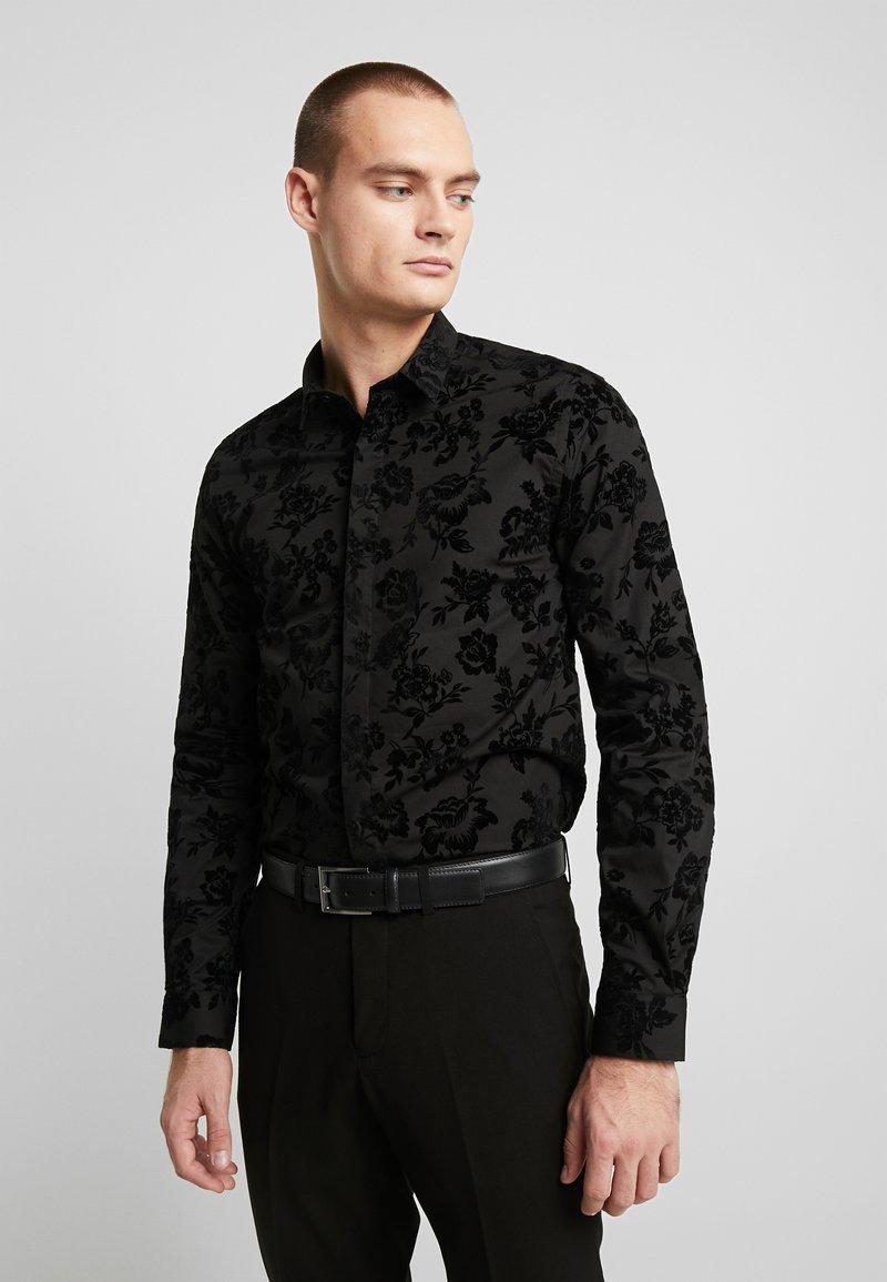 Twisted Tailor - KATRIN FLORAL  - Formal shirt - black