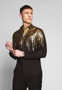 Twisted Tailor - LISZT - Chemise - black/gold - 0