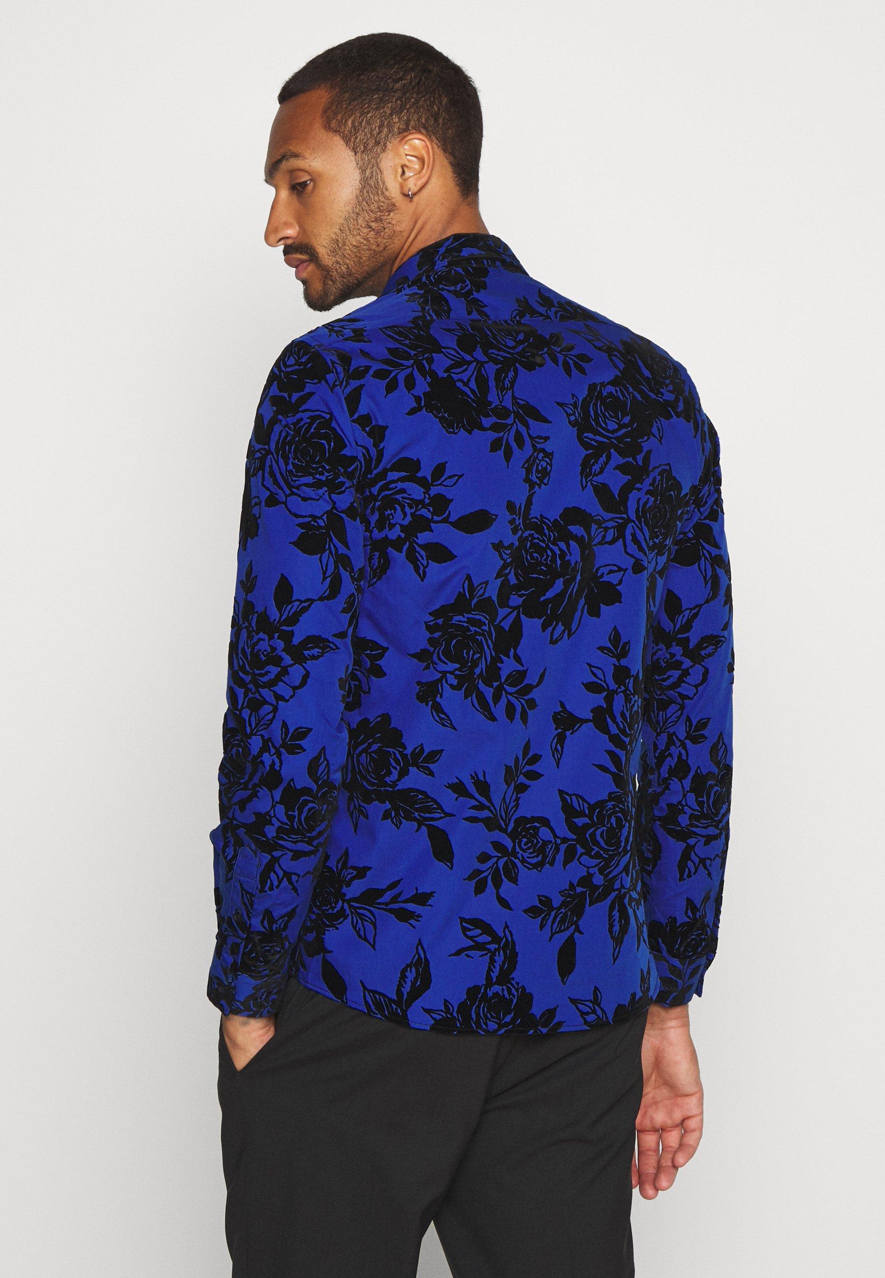Twisted Tailor MARSHALL SHIRT - Skjorta - blue - Herrkläder Rabatter