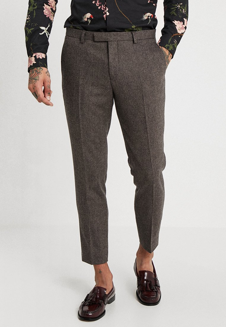 Twisted Tailor - MOONLIGHT TROUSERS - Oblekové kalhoty - brown