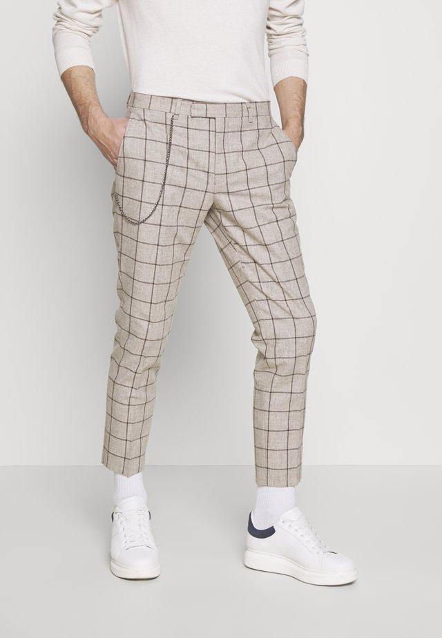 DOLAN - Trousers - stone