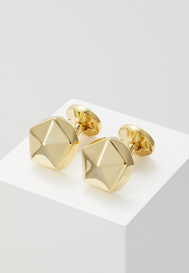 Twisted Tailor - QUINCY CUFFLINKS - Manžetové knoflíčky - gold-coloured