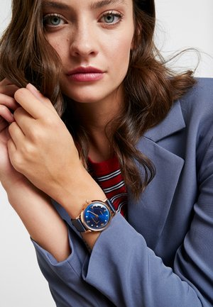 WOMENS AUTOMATIC CASE DIAL CROCO - Hodinky - blue