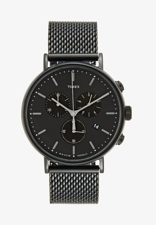 FAIRFIELD CHRONOGRAPH 41 mm MESH - Kronografklockor - black/black