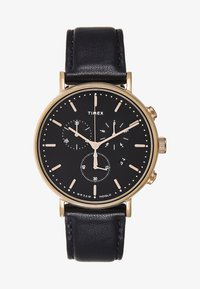 Timex - FAIRFIELD CHRONOGRAPH SUPERNOVA 41 mm - Chronograph watch - black/gold-coloured - 1