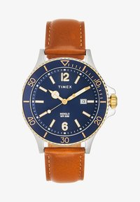Timex - HARBORSIDE 42 mm BRACELET - Watch - brown/ silver-coloured/blue - 1