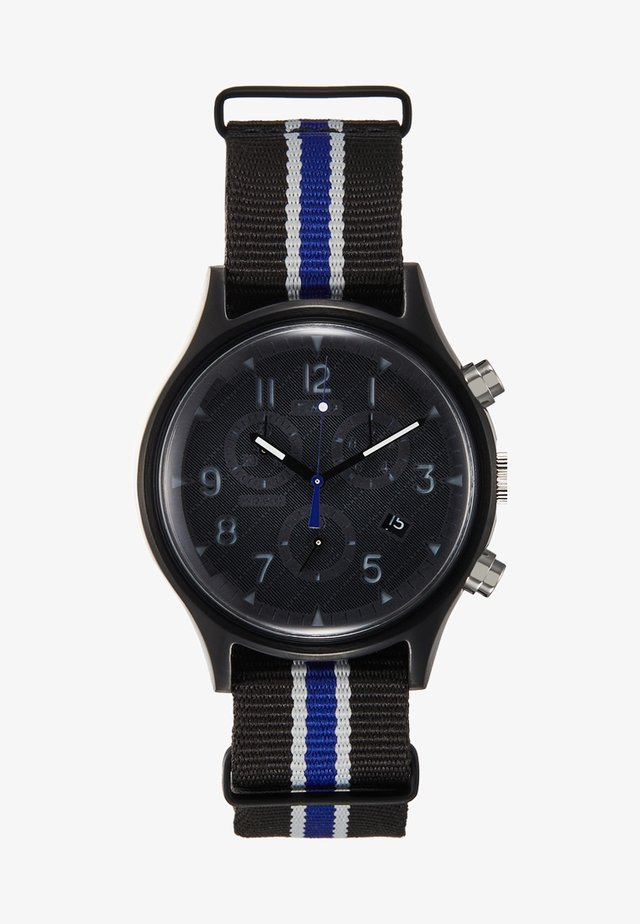 MK1 STEEL SUPERNOVA CHRONOGRAPH - Chronograph watch - black/blue