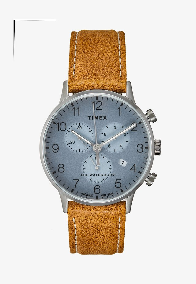 WATERBURY CLASSIC - Chronograph - silver-coloured/brown