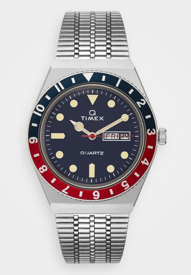 Q REISSUE - Watch - silver-coloured/blue/red