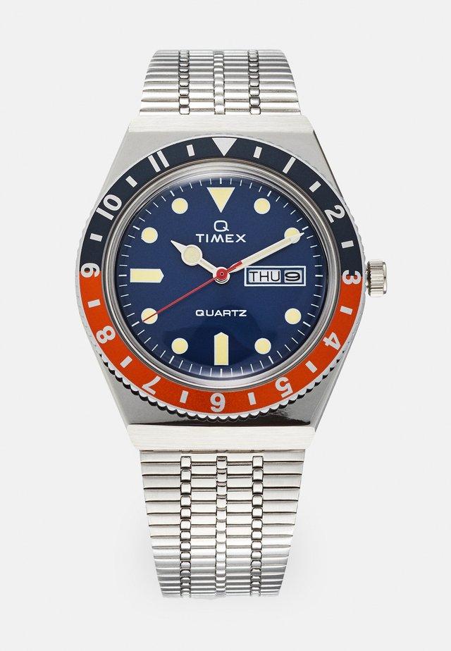 Q DIVER - Watch - silver-coloured/blue/orange
