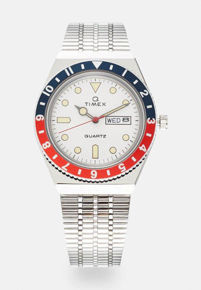 Q DIVER - Watch - silver-coloured/white